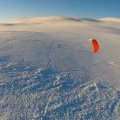 NORSKO - Dyranut snowkiting z Dronu