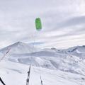 První snowkiting na Hochwangu