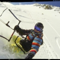 Snowkiting session Bernina pass - Switzerland 03.201